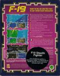 F-19 Stealth Fighter DOS Back Cover Spanish localized sticker