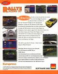 Network Q RAC Rally Championship DOS Back Cover