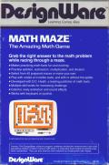Math Maze PC Booter Back Cover