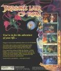 Dragon's Lair DOS Back Cover