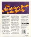 The Hitchhiker's Guide to the Galaxy DOS Back Cover