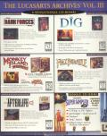 The LucasArts Archives Vol. III DOS Back Cover