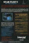 Star Fleet I: The War Begins! DOS Back Cover