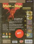 Might and Magic Sixpack DOS Back Cover