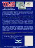 UMS: The Universal Military Simulator DOS Back Cover