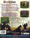 Blood & Magic DOS Back Cover