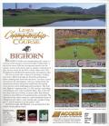 Links: Championship Course - Bighorn DOS Back Cover
