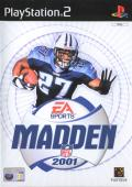 Madden NFL 2001 PlayStation 2 Front Cover