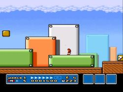 ...the scenery! (Note the fact that it is a Glitch Mario, e.g. Turtle obscured)