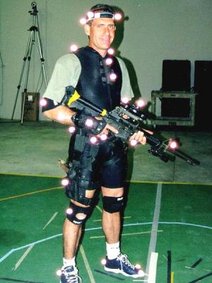 Kenneth at the House of Moves Motion Capture Studios during the production of SWAT 3.