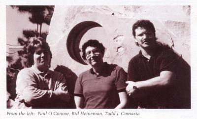 Game manual photo from 1989 Interplay game, Dragon Wars.  From the left: Paul O'Conner, Bill Heineman, Todd Camasta.