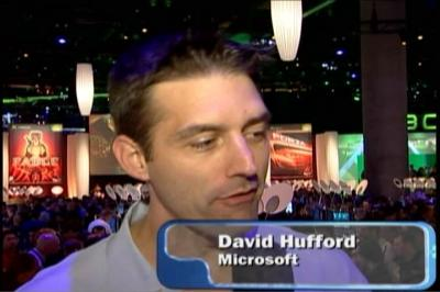 David pitching Microsoft's games at E3 2004.