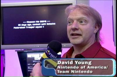 David extolling the Nintendo DS at E3 2004.