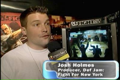 Josh discussing Def Jam: Fight for NY at E3 2004.