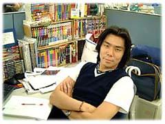 Kenjiro Morimoto, designer for Sonic Team, in a photo taken during the development of 'Sonic Adventure.'