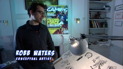Robb talking about his artistic work in ''Freedom Force vs The 3rd Reich''
