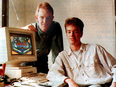 Fredrik Liliegren (left) and Andreas Axelsson (right) of Digital Illussions. From a 1992 interview in swedish magazine Datormagazin (photo by Stefan Nilsson).