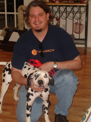 Thad and his best friend, Louie, 2006