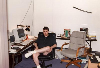 Frank at his office at 3DR in 1997 (taken from the Apogee Legacy interview)
