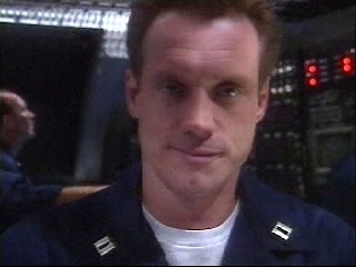 Fred Lehneg playing Lt. Wheeler in Silent Steel, circa 1995.