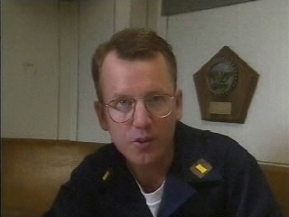 John Short playing Ensign Foster in Silent Steel, circa 1995.