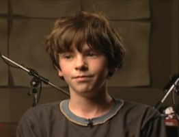 "Taken from PS2 The Golden Compass' video ""Audio Session: Freddie Highmore"""