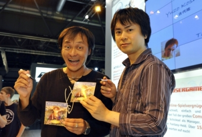 With Yuzo Koshiro (r) at the Games Convention in August 2008