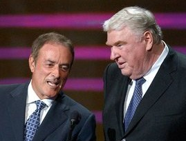 Al Michaels (left) with John Madden (right)2004Photo by Michael Caulfield © WireImage.com