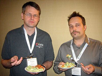 Bill Dugan (l) and Greg Zeschuk (r) at IGDA Leadership Forum 2007