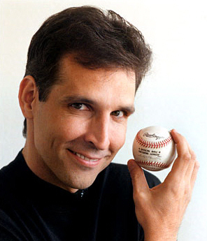 Todd McFarlane with Mark McGwire's home run ballMcFarlane Toys (circa 2006)