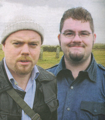 "(l/r) Jonathan Boakes and Matt Clark (from article ""Mystery Games draw in tourists,"" Western Morning News, June 1, 2006)"