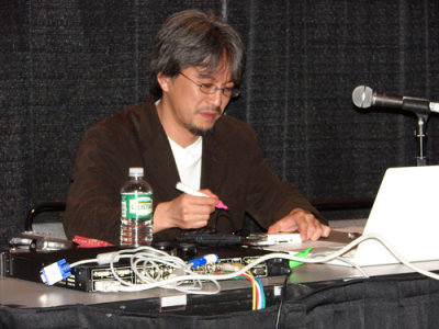 Eiji speaking at GDC 2007