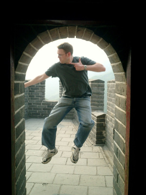 Ken Klopp on the Great Wall of China circa 2005