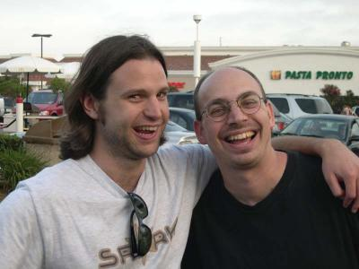 Matt Bozon (r.) with Tony A. Rowe (l.)circa 2005
