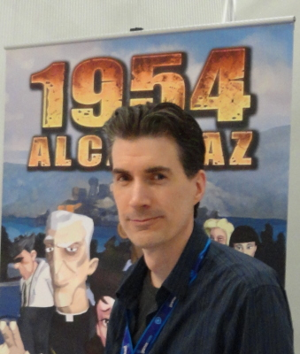 At Gamescom 2012 presenting 1954: Alcatraz