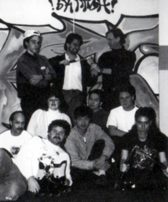 Circa 1994  Top Row: Lee Patterson, Wayne Radford, Jack Snowden  source: Skitchin' (manual)