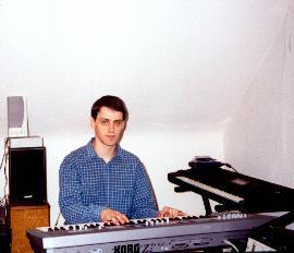 Allister composing (taken from his page on www.mp3.com)