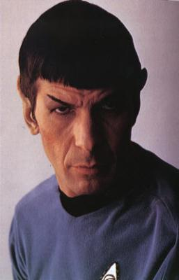 As Spock on Star Trek, circa 1967