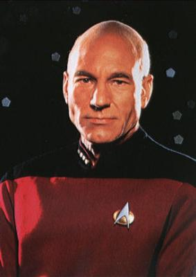 As Picard on Star Trek: The Next Generation