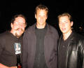 Levelord, Tony Hawk and Steve Nix at the E3 2002 Activision party
