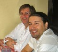 Chris and John Romero at Armadillo Willy's in 2006