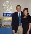Paul Carrico at SoE 2005 Christmas party with wife Chie.