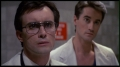 Jeffrey Combs (left) and Bruce Abbott (right), from the film Re-Animator (1985).