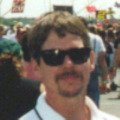 At the infield of a NASCAR Track for game reference.  Picture taken circa 2000
