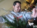 Derek Manning decorating a tree circa Christmas 2006