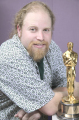 "Jory K. Prum with Oscar for Pixar's ""For the Birds"""