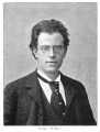1892 photograph of Mahler