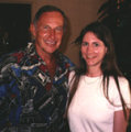 Daryl F. Gates with Susan Frischer in 1996