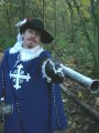 James Sayerdressed up as d'Artagnan fromThe Three Musketeers: The GameDingo Games, 2009