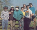 Kevin (fourth to right) on an Oxford Digital Enterprises team picture ca. 1989.Source: ACE #22, 1989/7